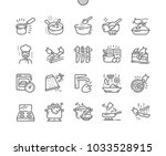 cooking well crafted pixel... | Shutterstock .eps vector #1033528915