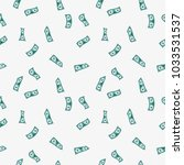 money rain pattern. falling... | Shutterstock .eps vector #1033531537