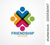 teamwork and friendship concept ... | Shutterstock .eps vector #1033536547