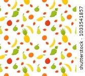 fruits   apple  banana  pear ... | Shutterstock .eps vector #1033541857