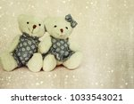 valentines day. two toy bears | Shutterstock . vector #1033543021