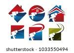 eco home insulation set | Shutterstock .eps vector #1033550494