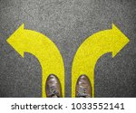 businessman shoes stand to... | Shutterstock . vector #1033552141