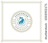 seafood restaurant logo vector... | Shutterstock .eps vector #1033552171