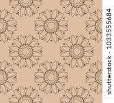 brown floral ornamental design... | Shutterstock .eps vector #1033555684