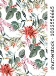 tropical exotic pattern with... | Shutterstock .eps vector #1033556665