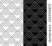 black and white geometric... | Shutterstock .eps vector #1033556875