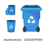 modern blue recycle paper waste ... | Shutterstock .eps vector #1033559434