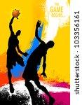 illustration of basketball... | Shutterstock .eps vector #103356161