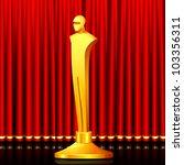 Illustration Of Gold Award In...