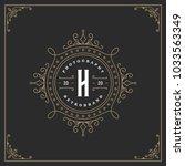 ornament monogram logo design... | Shutterstock .eps vector #1033563349