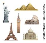 illustration of world landmarks | Shutterstock . vector #1033564057