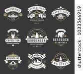 camping logos templates vector... | Shutterstock .eps vector #1033566919