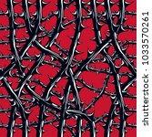 horror art style seamless...   Shutterstock .eps vector #1033570261