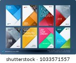 material design of brochure set ... | Shutterstock .eps vector #1033571557