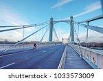 albert bridge london | Shutterstock . vector #1033573009