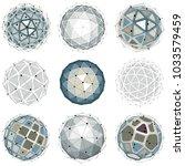 3d vector digital wireframe... | Shutterstock .eps vector #1033579459