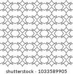 seamless geometric ornamental... | Shutterstock .eps vector #1033589905