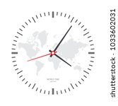 clock watch icon. wall clock ... | Shutterstock .eps vector #1033602031