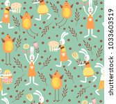 vector seamless pattern on the... | Shutterstock .eps vector #1033603519