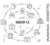 industry 4.0 concept | Shutterstock .eps vector #1033607701