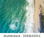 aerial view of forteleza beach... | Shutterstock . vector #1033610311