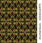vector damask seamless pattern... | Shutterstock .eps vector #1033616995