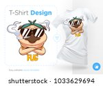pug life. print on t shirts ... | Shutterstock .eps vector #1033629694