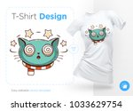 funny cat. print on t shirts ... | Shutterstock .eps vector #1033629754