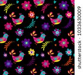abstract seamless floral... | Shutterstock .eps vector #1033630009