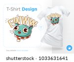 funny cat. print on t shirts ...   Shutterstock .eps vector #1033631641