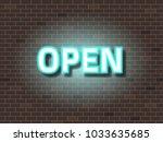 open text neon light   Shutterstock .eps vector #1033635685