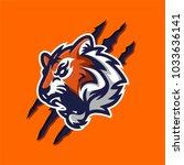 tiger mascot logo template for... | Shutterstock .eps vector #1033636141