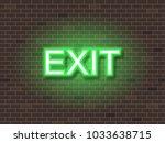 exit text neon light   Shutterstock .eps vector #1033638715