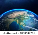 earth viewed from space with...   Shutterstock . vector #1033639261