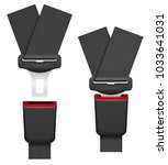 car seat belt for safety in... | Shutterstock .eps vector #1033641031