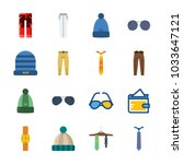 icon man accessories with...   Shutterstock .eps vector #1033647121