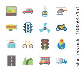 icon transportation with... | Shutterstock .eps vector #1033647151