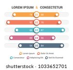 comparison chart with five... | Shutterstock .eps vector #1033652701