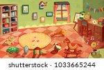 indoor concept illustration | Shutterstock . vector #1033665244
