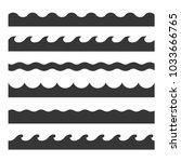 seamless wave pattern set.... | Shutterstock . vector #1033666765