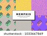 set of memphis seamless...   Shutterstock .eps vector #1033667869