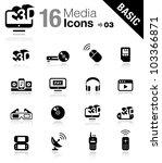 basic   media icons | Shutterstock .eps vector #103366871