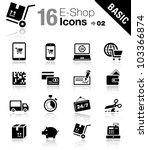 basic   shopping icons | Shutterstock .eps vector #103366874