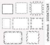 set of hand drawn doodle frames | Shutterstock .eps vector #1033671265