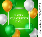 st.patrick's day background... | Shutterstock .eps vector #1033677319