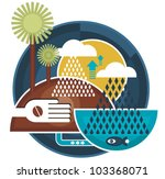 abstract picture of nature with ... | Shutterstock .eps vector #103368071
