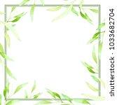 watercolor frame on white... | Shutterstock . vector #1033682704