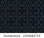 vector simple moroccan pattern. ... | Shutterstock .eps vector #1033682719