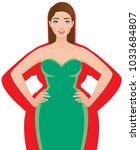 slender woman after successful... | Shutterstock .eps vector #1033684807